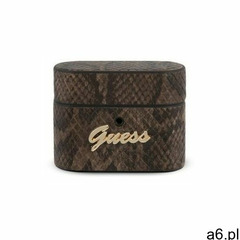 Guess GUACAPPUSNSMLBR AirPods Pro cover brązowy/brown Python Collection (3700740479063) - ogłoszenia A6.pl