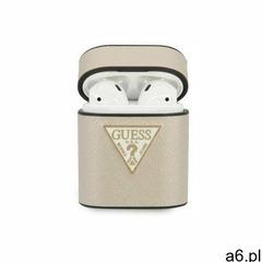 guaca2vsatmllg airpods cover beżowy/beige saffiano marki Guess - ogłoszenia A6.pl