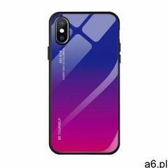 Gradient glass etui pokrowiec nakładka ze szkła hartowanego iphone 8 plus / iphone 7 plus różowo-fio - ogłoszenia A6.pl