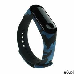 Zamienna silikonowa opaska pasek do Xiaomi Mi Band 4 / Mi Band 3 Camouflage niebieski (7426825375728 - ogłoszenia A6.pl