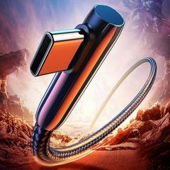 Ugreen kątowy kabel przewód z bocznym wtykiem usb - usb typ c 3 a quick charge 3.0 scp fcp 1,5 m cza - ogłoszenia A6.pl