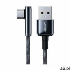 Ugreen kątowy kabel przewód z bocznym wtykiem USB - USB Typ C 5 A Quick Charge 3.0 AFC FCP 0,25 m cz - ogłoszenia A6.pl