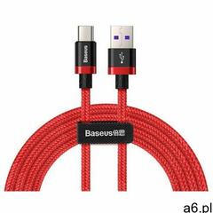 Baseus Purple Gold Red kabel przewód w nylonowym oplocie USB / USB-C SuperCharge 40W Quick Charge 3. - ogłoszenia A6.pl