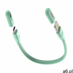 kabel przewód usb (wtyk dwustronny) - usb typ c 5 a 22 cm bransoleta bransoletka miętowy (catfh-06a) - ogłoszenia A6.pl