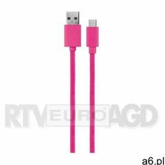 Xqisit cotton cable usb c 3.0-usb a (różowy) (4029948066196) - ogłoszenia A6.pl