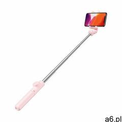 Baseus selfie stick teleskopowy rozsuwany kijek do selfie statyw z pilotem Bluetooth różowy (SUDYZP- - ogłoszenia A6.pl