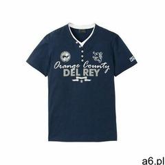 Shirt z dekoltem henley 2w1 bonprix ciemnoniebieski - ogłoszenia A6.pl