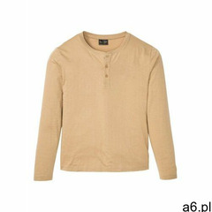 Shirt z dekoltem henley, długi rękaw bonprix beżowy - ogłoszenia A6.pl