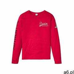 Shirt z długim rękawem bonprix czerwony z nadrukiem - ogłoszenia A6.pl