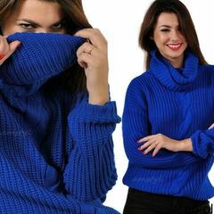 Sweter golf z warkoczem,miękka ciepła dzianina marki Amstyl - ogłoszenia A6.pl