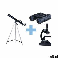 Profesjonalny zestaw edukacyjny: teleskop astronom. + mikroskop + lornetka + dvd + m - ogłoszenia A6.pl