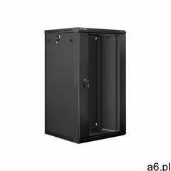 """Szafa Lanberg wisząca 19"""", 22U, 600x600, czarna (FLAT PACK) (WF01-6622-10B) Darmowy odbiór w 21  - ogłoszenia A6.pl"""