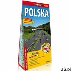 Polska laminowana mapa samochodowa 1:1 000 000 - ogłoszenia A6.pl