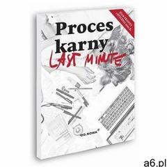Last minute proces karny - bogusław gąszcz (pdf) (9788366720411) - ogłoszenia A6.pl