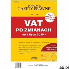 PODATKI 13 - VAT po zmianach od 1 lipca 2015 r - ogłoszenia A6.pl