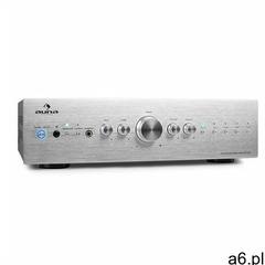 Auna cd708 wzmacniacz stereo aux phono srebrny 600w (4260322374883) - ogłoszenia A6.pl