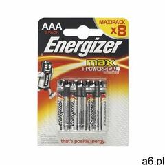 Bateria alkaliczna max aaa e92 8 szt. marki Energizer - ogłoszenia A6.pl