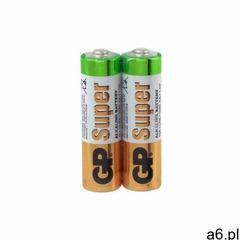 Baterie alkaliczna, AA, 1.5V, GP, Folia, 2-pack, SUPER, cena za 1 baterię, AB015GPA2AF2 (7062199) - ogłoszenia A6.pl
