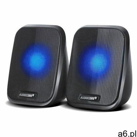 Głośniki Audiocore AC835 komputerowe 6W USB minijack czarne LED, 9_53934 - 1