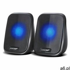 Głośniki Audiocore AC835 komputerowe 6W USB minijack czarne LED, 9_53934 - ogłoszenia A6.pl