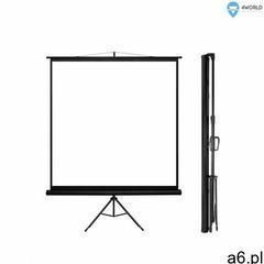 4world ekran projekcyjny ze statywem 152x152 (1:1) biały mat (5908214349593) - ogłoszenia A6.pl