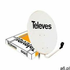Antena satelitarna Offset 800 stal Z.39dB biała, TELEV-000005 - ogłoszenia A6.pl