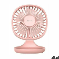 Baseus Pudding-Shaped Fan / Wiatrak biurkowy wentylator na USB różowy (6953156290952) - ogłoszenia A6.pl