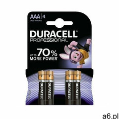 Baterie AAA LR03 DURACELL Professional (4 szt.) - ogłoszenia A6.pl