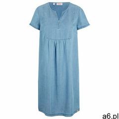 Bonprix Sukienka z dżerseju z aplikacją kobaltowo-srebrny - ogłoszenia A6.pl