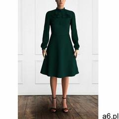 Elegancka sukienka do biura wama w kolorze zielonym, Duhla - ogłoszenia A6.pl