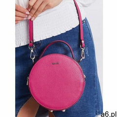 Torebka damska kuferek włoski skórzany różowy marki Rovicky - ogłoszenia A6.pl