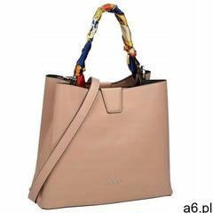 Torebka shopper bag z apaszką nobo beżowa 1970, kolor beżowy - ogłoszenia A6.pl