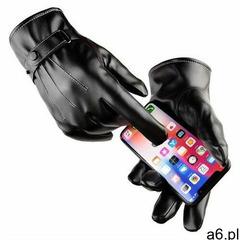 Hurtel Męskie zimowe rękawiczki ze skóry ekologicznej do ekranów dotykowych do telefonu dotykowego s - ogłoszenia A6.pl