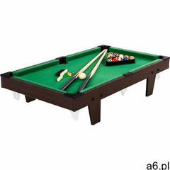Mks Brązowy mini stół bilardowy pool bilard +akcesoria - brązowy dekor drewna - ogłoszenia A6.pl