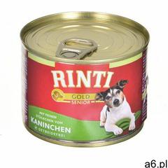 RINTI Gold Senior - Królik i ryż 185g - 185g (4000158910301) - ogłoszenia A6.pl