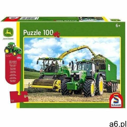 Puzzle 100 John Deere Traktor 6195M + zabawka G3 - 1
