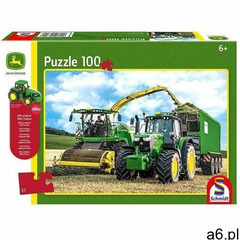 Puzzle 100 John Deere Traktor 6195M + zabawka G3 - ogłoszenia A6.pl