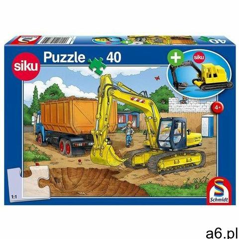 Schmidt Puzzle 40 siku koparka + zabawka g3 (4001504563509) - 1