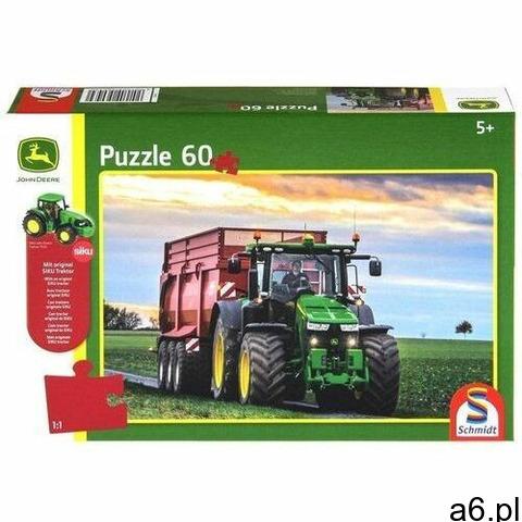 Puzzle 60 John Deere Traktor 8370R + zabawka G3 (4001504560430) - 1