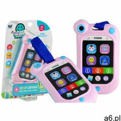 Lean toys Telefon dotykowa komórka dla malucha dźwięki róż (1818912487531) - ogłoszenia A6.pl