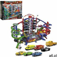 Majorette garaż super city 7 poziomów + 6 samochodów i lokomotywa, efekty dźwiękowe i świetlne ( - ogłoszenia A6.pl