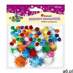 Pompony brokatowe, mix kolorów (361537) marki Titanum - ogłoszenia A6.pl