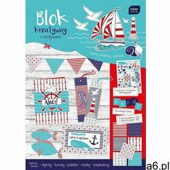 Blok kreatywny a4 z naklejkami marine marki Interdruk - ogłoszenia A6.pl
