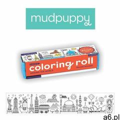 Kolorowanka w rolce 76cm z 4 kredkami Mudpuppy - Dookoła świata 9780735349339, 9780735349339 - ogłoszenia A6.pl