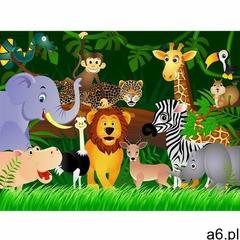 Fototapeta dziecięca XXL Dżungla 360 x 270 cm, 4 części - ogłoszenia A6.pl