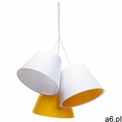 Lumes Biało-pomarańczowa lampa wisząca dzwonki dla dzieci - exx72-mirella - ogłoszenia A6.pl