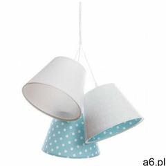 Biało-niebieska dziecięca lampa wisząca w groszki - EXX73-Leticia - ogłoszenia A6.pl
