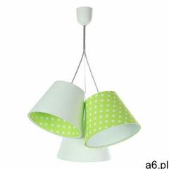 Lumes Biało-zielona lampa wisząca w groszki dla dzieci - exx78-lovato - ogłoszenia A6.pl