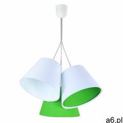 Biało-zielona potrójna lampa wisząca dziecięca - exx72-mirella marki Lumes - ogłoszenia A6.pl