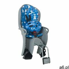 Hamax Fotelik rowerowy niebieski kiss + kask - ogłoszenia A6.pl